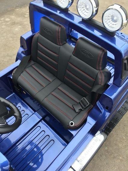 Электромобиль Ford Ranger черный (двухместный, кожа, резина, пульт, музыка, ГЛЯНЦЕВАЯ ПОКРАСКА)