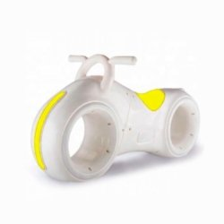 Беговел Star One Scooter - DB002 бело-желтый (устойчивые колеса, подсветка, музыка)